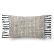 """Loloi P0812 Pillow 13"""" x 21"""" Cover with Poly in Grey (PSETP0812GY00PIL5)"""