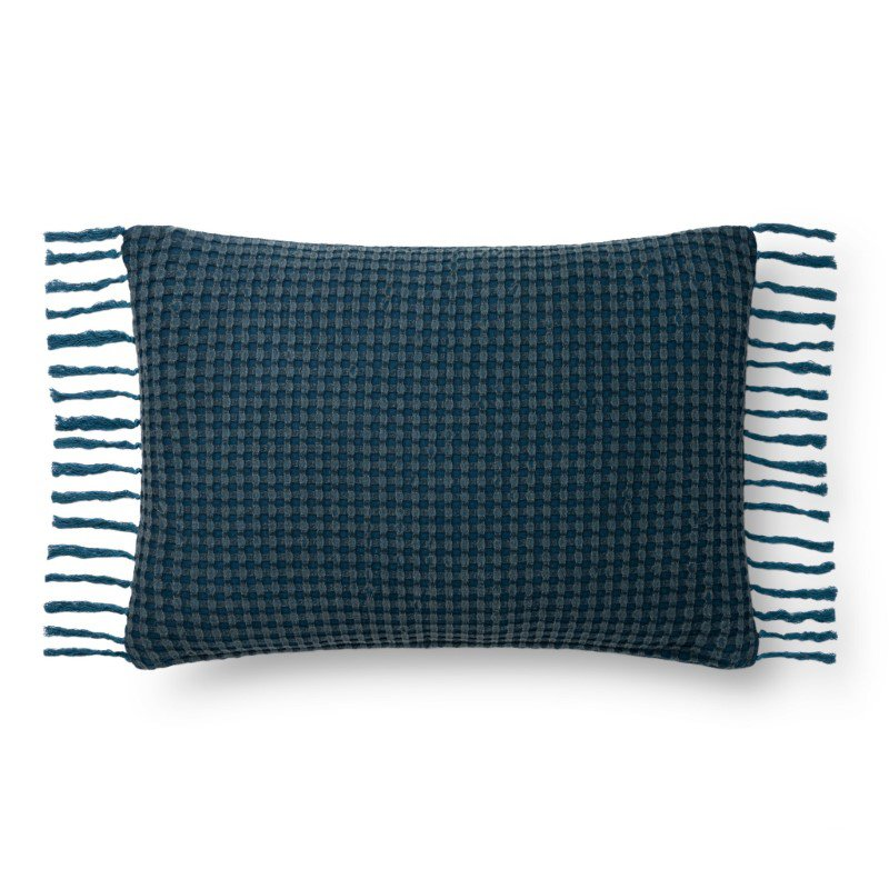 "Loloi P0812 Pillow 16"" x 26"" Cover Only in Navy (P024P0812NV00PI15)"