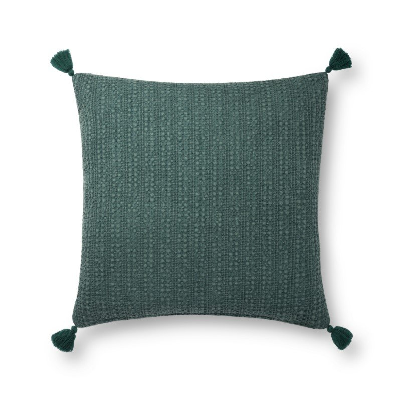 """Loloi P0813 Pillow 22"""" x 22"""" Cover Only in Green (P024P0813GR00PIL3)"""