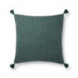 """Loloi P0813 Pillow 22"""" x 22"""" Cover with Poly in Green (PSETP0813GR00PIL3)"""