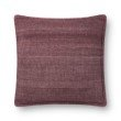 """Loloi P0815 Pillow 22"""" x 22"""" Cover Only in Wine (P092P0815WI00PIL3)"""