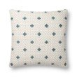 "Loloi P0816 Pillow 22"" x 22"" Cover with Down in Ivory and Blue (DSETP0816IVBBPIL3)"