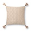 """Loloi P0817 Pillow 18"""" x 18"""" Cover with Down in Champagne (DSETP0817CH00PIL1)"""
