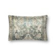 """Loloi P0818 Pillow 13"""" x 21"""" Cover with Poly in Green and Multi (PSETP0818GRMLPIL5)"""