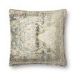 """Loloi P0819 Pillow 22"""" x 22"""" Cover Only in Green and Multi (P027P0819GRMLPIL3)"""