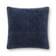 """Loloi P0829 Pillow 22"""" x 22"""" Cover with Down in Navy (DSETP0829NV00PIL3)"""