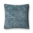 "Loloi P0830 Pillow 22"" x 22"" Cover Only in Blue (P079P0830BB00PIL3)"