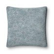 """Loloi P0830 Pillow 22"""" x 22"""" Cover with Down in Lt. Blue (DSETP0830LB00PIL3)"""