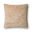 """Loloi P0830 Pillow 22"""" x 22"""" Cover with Down in Taupe (DSETP0830TA00PIL3)"""