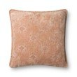 "Loloi P0830 Pillow 22"" x 22"" Cover with Poly in Coral (PSETP0830CO00PIL3)"