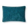 """Loloi P0831 Pillow 16"""" x 26"""" Cover Only in Teal (P100P0831TE00PI15)"""