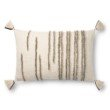 "Loloi P0832 Pillow 16"" x 26"" Cover with Poly in Natural and Stone (PSETP0832NASNPI15)"
