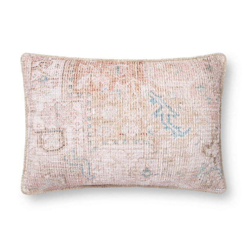 """Loloi P0855 16"""" x 26"""" Rectangle Pillow Cover with Down in Multi (DSETP0855ML00PI15)"""