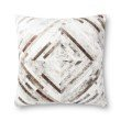"""Loloi P0875 22"""" x 22"""" Square Pillow Cover with Poly in Grey (PSETP0875GY00PIL3)"""