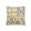 "Loloi P0878 22"" x 22"" Square Pillow Cover with Poly in Green and Multi (PSETP0878GRMLPIL3)"