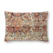 "Loloi P0880 16"" x 26"" Rectangle Pillow Cover with Poly in Red and Multi (PSETP0880REMLPI15)"