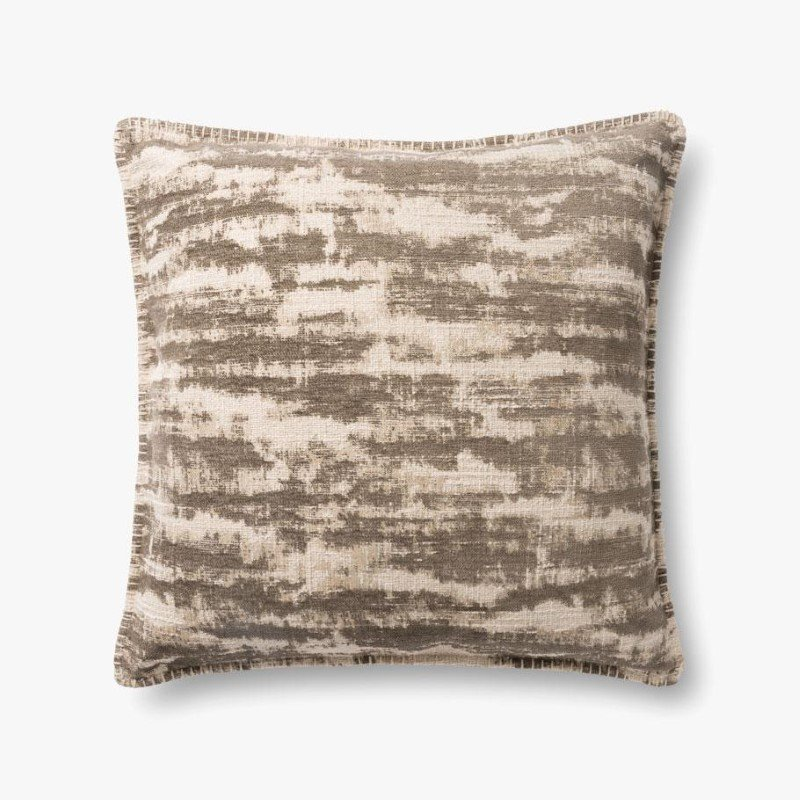 "Loloi P0891 22"" x 22"" Square Pillow Cover Only in Beige (P110P0891BE00PIL3)"