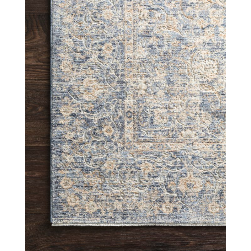 """Loloi Pandora PAN-01 Traditional Power Loomed 2' 6"""" x 8' Runner Rug in Blue and Gold (PANDPAN-01BBGO2680)"""