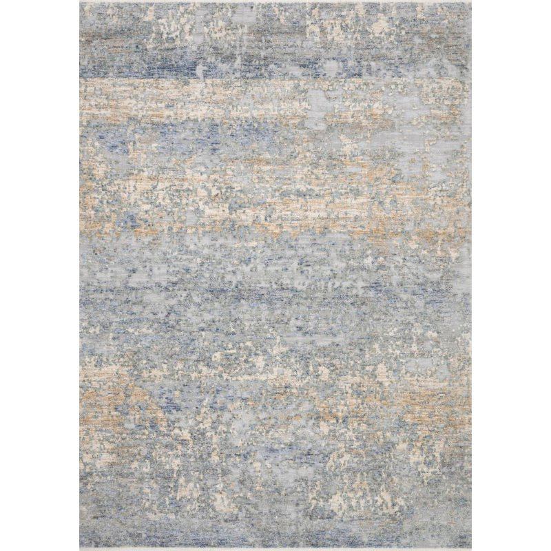 """Loloi Pandora PAN-05 Traditional Power Loomed 2' 6"""" x 12' Runner Rug in Blue and Gold (PANDPAN-05BBGO26C0)"""