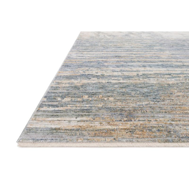 """Loloi Pandora PAN-06 Traditional Power Loomed 2' 6"""" x 10' Runner Rug in Ivory and Blue (PANDPAN-06IVBB26A0)"""