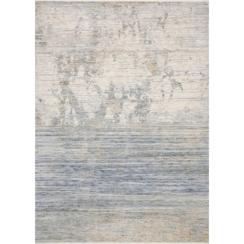 Loloi Pandora PAN-06 Traditional Power Loomed 5' x 8' Rectangle Rug in Ivory and Blue (PANDPAN-06IVBB5080)