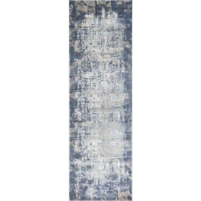 "Loloi Patina PJ-01 2' 7"" x 8' Runner Rug in Denim and Grey (PATIPJ-01DEGY2780)"
