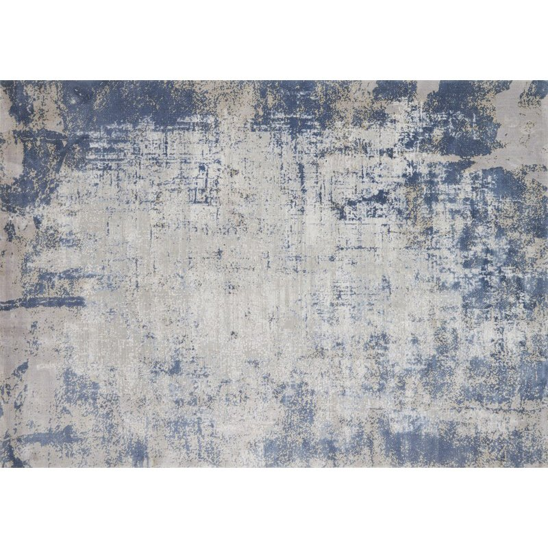 "Loloi Patina PJ-01 6' 7"" x 9' 2"" Rectangle Rug in Denim and Grey (PATIPJ-01DEGY6792)"