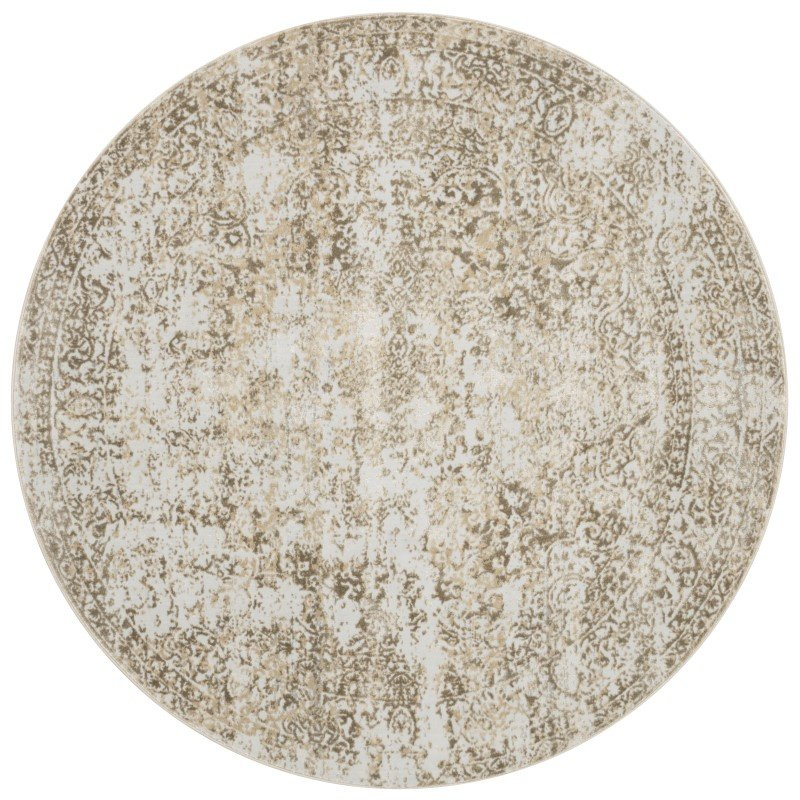 """Loloi Patina PJ-03 5' 3"""" Round Rug in Champagne and Lt. Grey (PATIPJ-03CHLC530R)"""