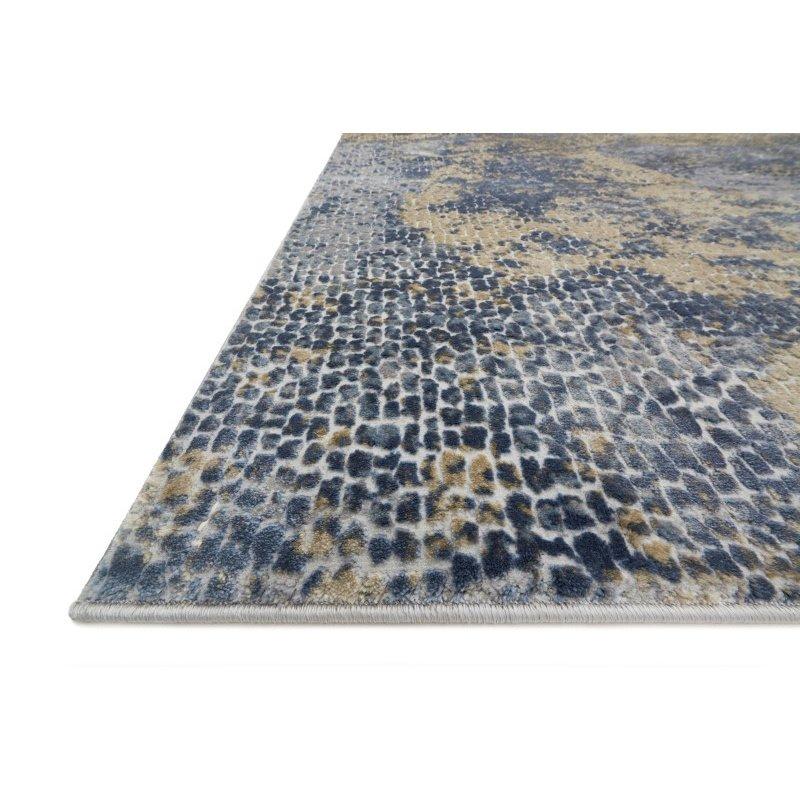 "Loloi Patina PJ-05 1' 6"" x 1' 6"" Square Rug in Ocean and Gold (PATIPJ-05OCGO160S)"