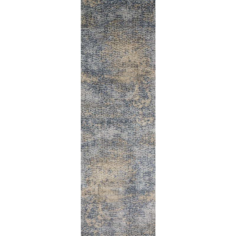 "Loloi Patina PJ-05 2' 7"" x 8' Runner Rug in Ocean and Gold (PATIPJ-05OCGO2780)"