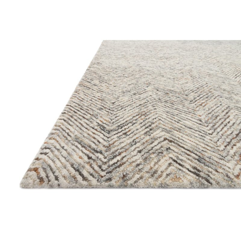 "Loloi Peregrine PER-02 Contemporary Hand Tufted 2' 6"" x 7' 6"" Runner Rug in Lt Grey and Multi (PEREPER-02LCML2676)"
