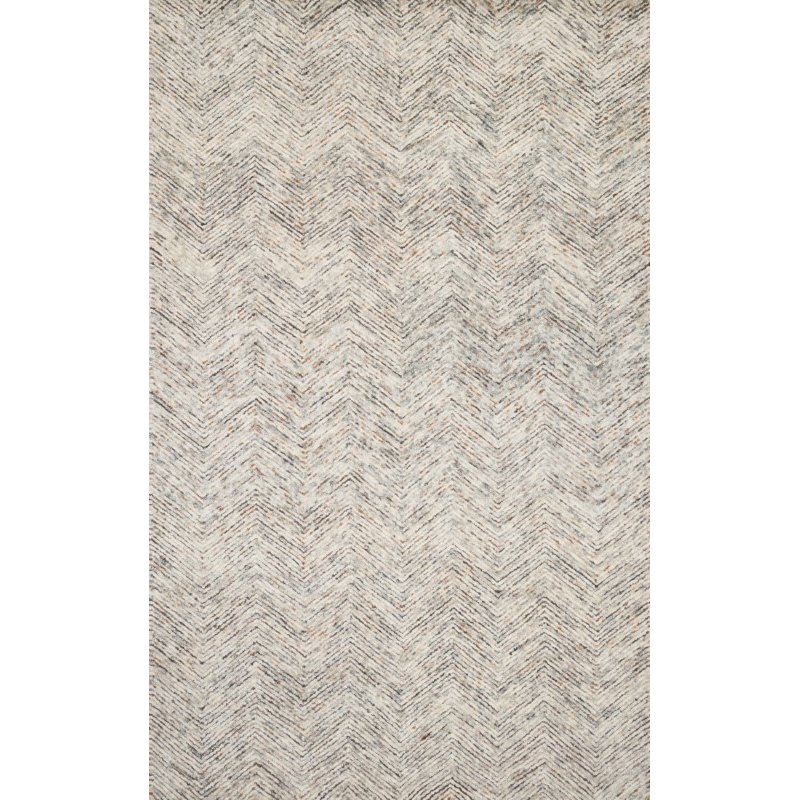 "Loloi Peregrine PER-02 Contemporary Hand Tufted 7' 9"" x 9' 9"" Rectangle Rug in Lt Grey and Multi (PEREPER-02LCML7999)"