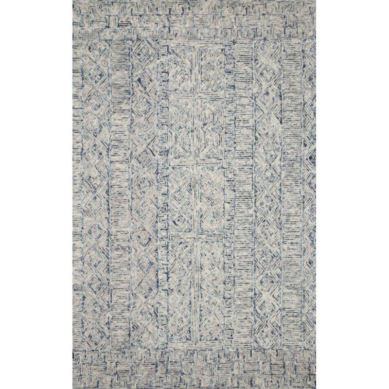 "Loloi Peregrine PER-04 Contemporary Hand Tufted 3' 6"" x 5' 6"" Rectangle Rug in Ocean (PEREPER-04OC003656)"