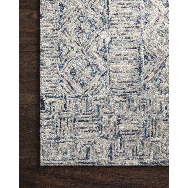 "Loloi Peregrine PER-04 Contemporary Hand Tufted 9' 3"" x 13' Rectangle Rug in Ocean (PEREPER-04OC0093D0)"