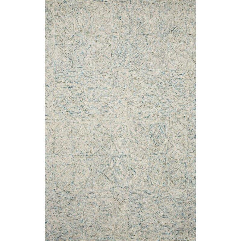 "Loloi Peregrine PER-05 Contemporary Hand Tufted 7' 9"" x 9' 9"" Rectangle Rug in Aqua (PEREPER-05AQ007999)"