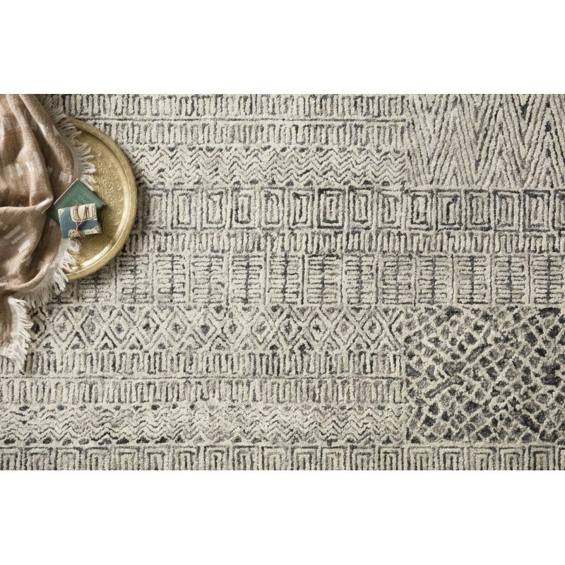 """Loloi Peregrine PER-06 Contemporary Hand Tufted 9' 3"""" x 13' Rectangle Rug in Charcoal (PEREPER-06CC0093D0)"""