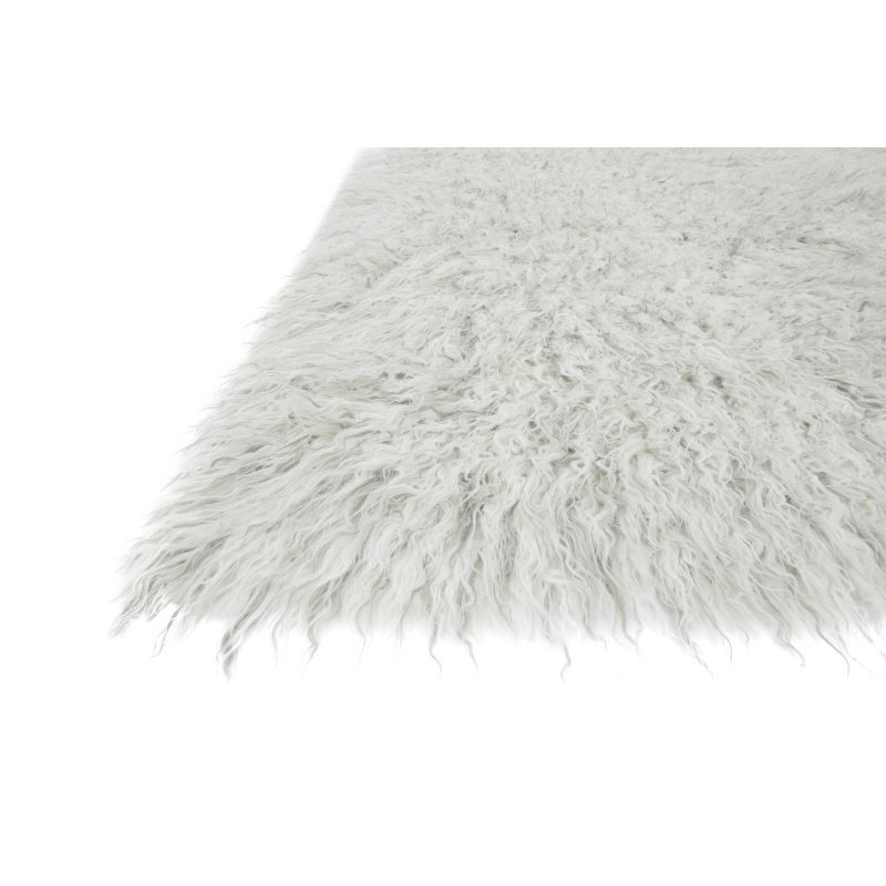 """Loloi Petra PV-01 1' 6"""" x 1' 6"""" Square Rug in Ivory and Silver (PETRPV-01IVSI160S)"""