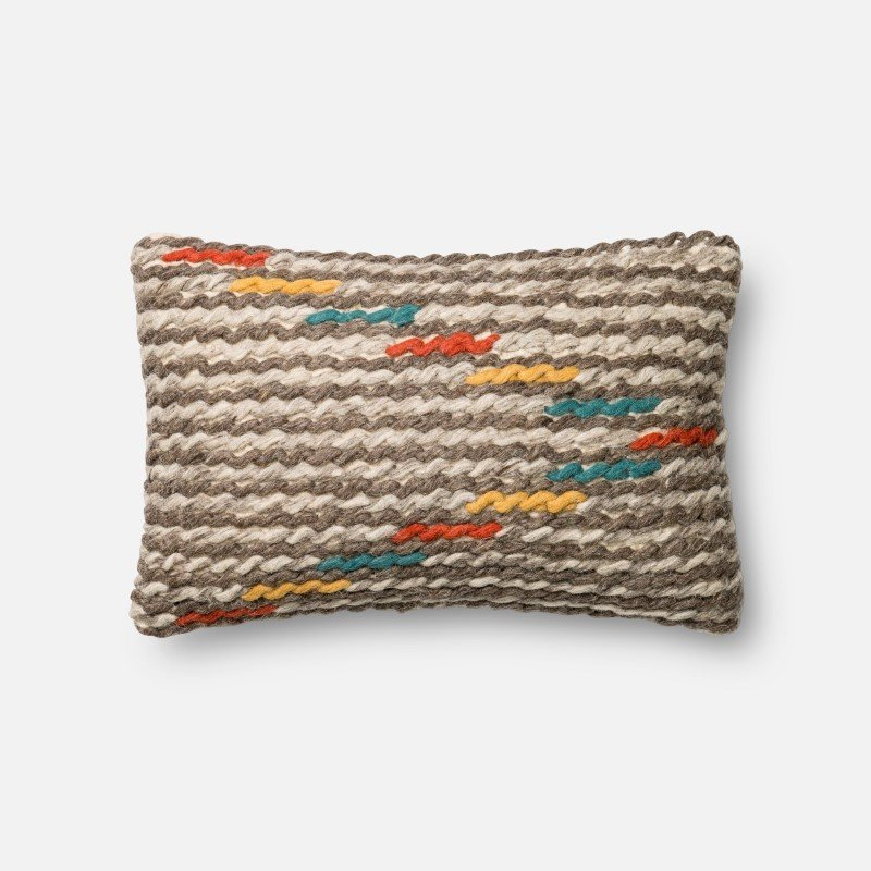 """Loloi Poly Set Collection P0333 Pillow 13"""" x 21"""" Cover with Poly in Multi"""