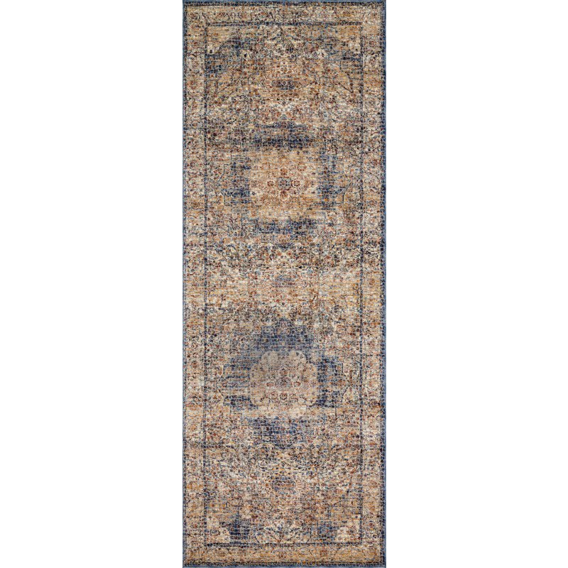 """Loloi Porcia PB-01 2' 8"""" x 8' Runner Rug in Ivory and Beige (PORCPB-01IVBE2880)"""
