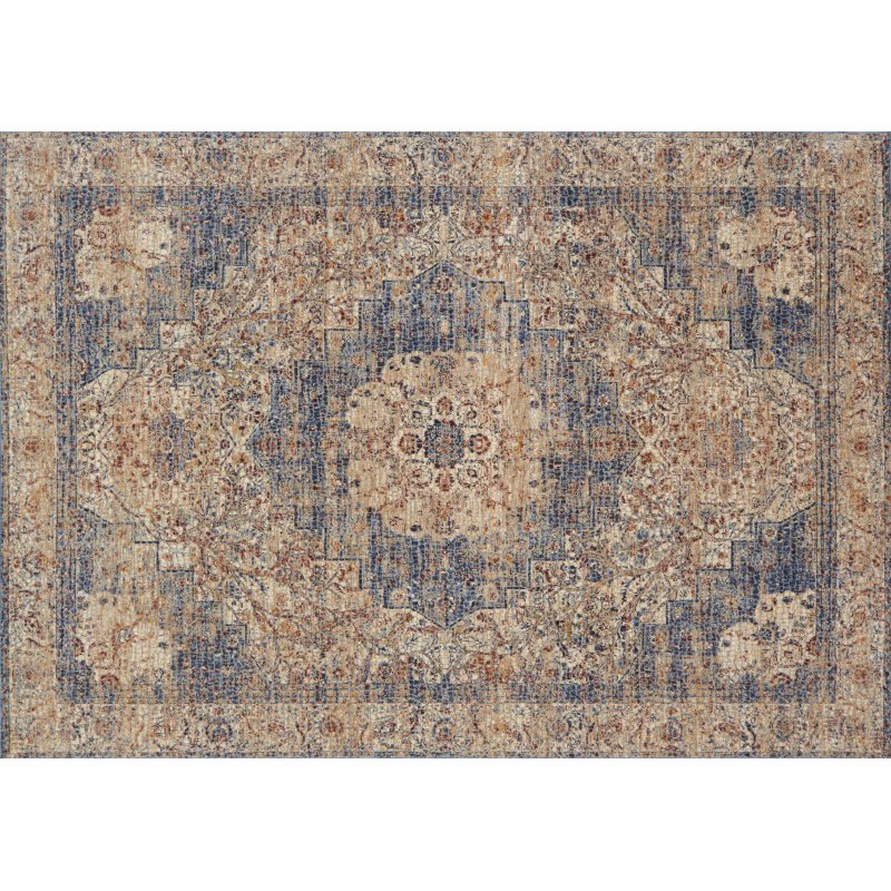 """Loloi Porcia PB-01 7' 10"""" x 10' Rectangle Rug in Ivory and Beige (PORCPB-01IVBE7AA0)"""