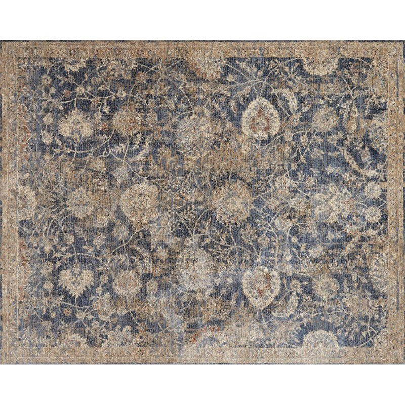 "Loloi Porcia PB-06 1' 6"" x 1' 6"" Square Rug in Blue and Beige (PORCPB-06BBBE160S)"