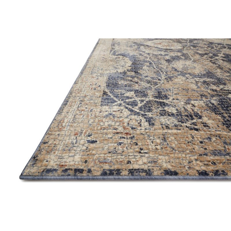 """Loloi Porcia PB-06 9' 6"""" x 12' 6"""" Rectangle Rug in Blue and Beige (PORCPB-06BBBE96C6)"""