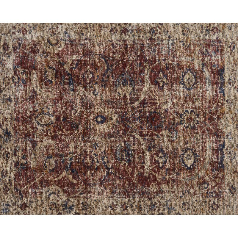 """Loloi Porcia PB-08 7' 10"""" x 10' Rectangle Rug in Red and Beige (PORCPB-08REBE7AA0)"""
