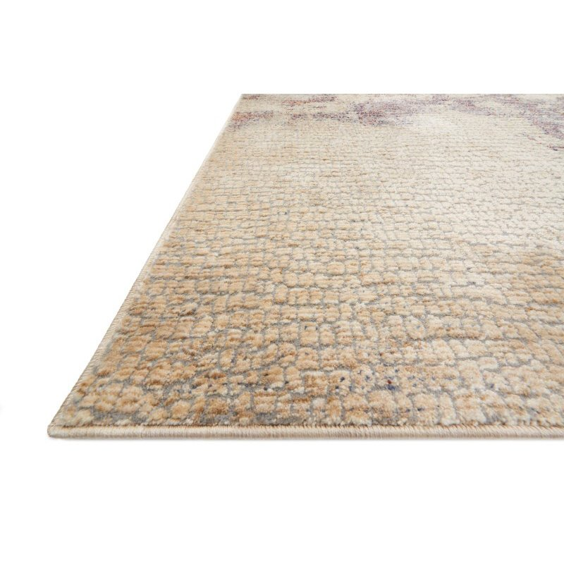 """Loloi Porcia PB-12 1' 6"""" x 1' 6"""" Square Rug in Beige and Berry (PORCPB-12BEBY160S)"""