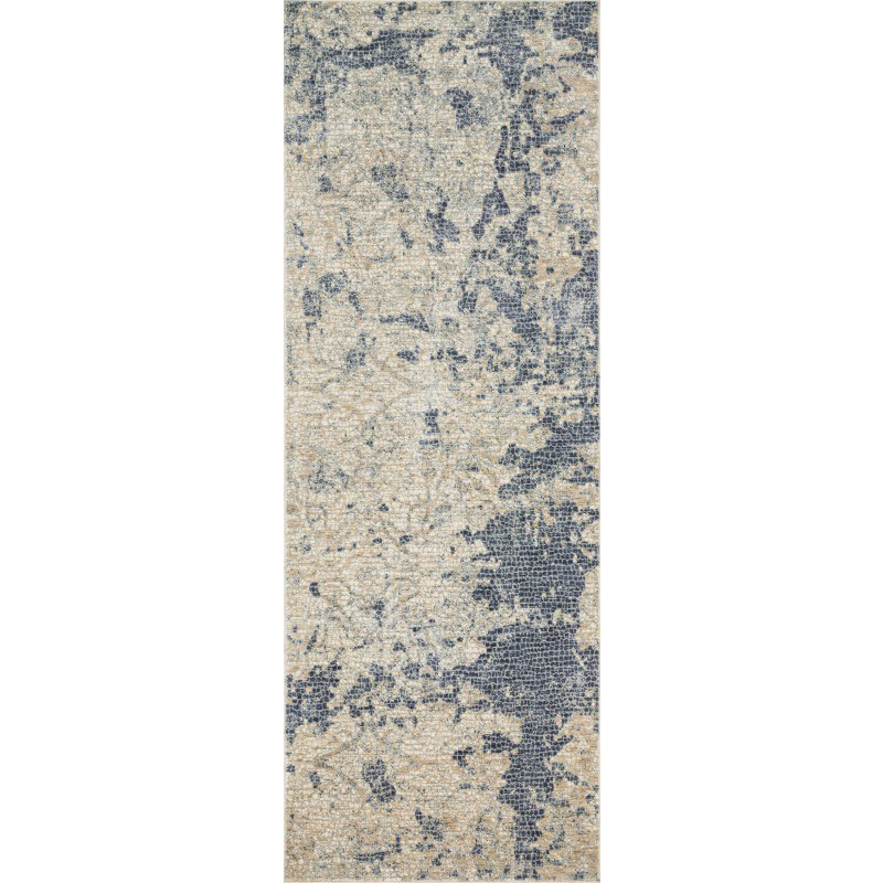 """Loloi Porcia PB-13 2' 8"""" x 8' Runner Rug in Beige and Blue (PORCPB-13BEBB2880)"""
