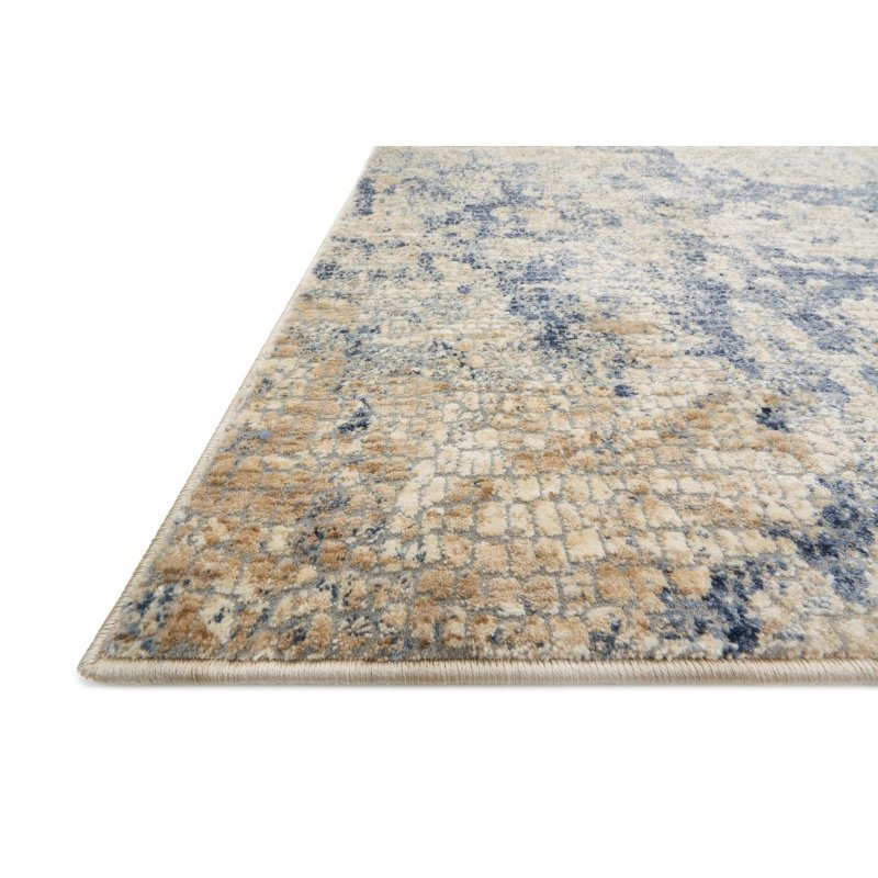 """Loloi Porcia PB-13 9' 6"""" Round Rug in Beige and Blue (PORCPB-13BEBB960R)"""