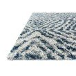 """Loloi Quincy QC-01 Shags Rectangle Rug 7' 10"""" x 10' 10"""" in Ocean and Pebble (QNCYQC-01OCPP7AAA)"""
