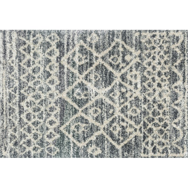 """Loloi Quincy QC-02 Shags Runner Rug 2' 3"""" x 8' in Graphite and Beige (QNCYQC-02GTBE2380)"""