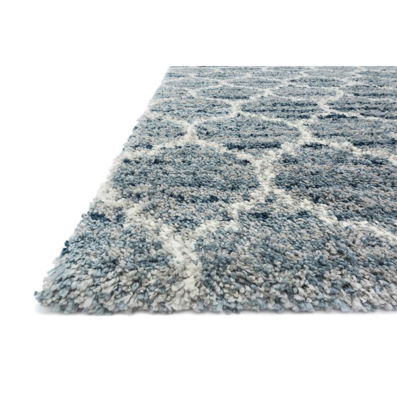 "Loloi Quincy QC-03 Shags Runner Rug 2' 3"" x 8' in Spa and Pebble (QNCYQC-03SPPP2380)"
