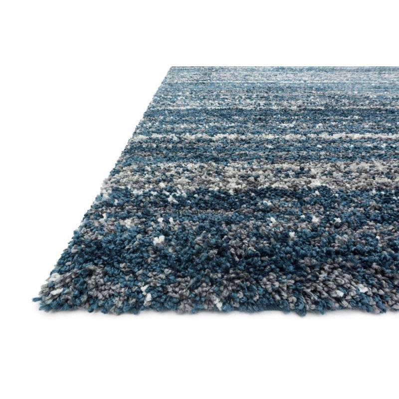 "Loloi Quincy QC-05 Shags Rectangle Rug 7' 10"" x 10' 10"" in Navy and Pewter (QNCYQC-05NVPW7AAA)"